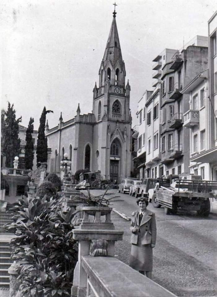 Porto Alegre - Praça Otávio Rocha na década de 1950.