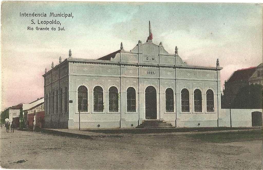 São Leopoldo - Intendência Municipal(prefeitura) no início do século XX.