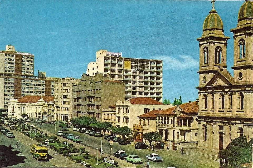 Santa Maria - Centro na década de 1960. Fonte: acervo Jonatas Vargas.