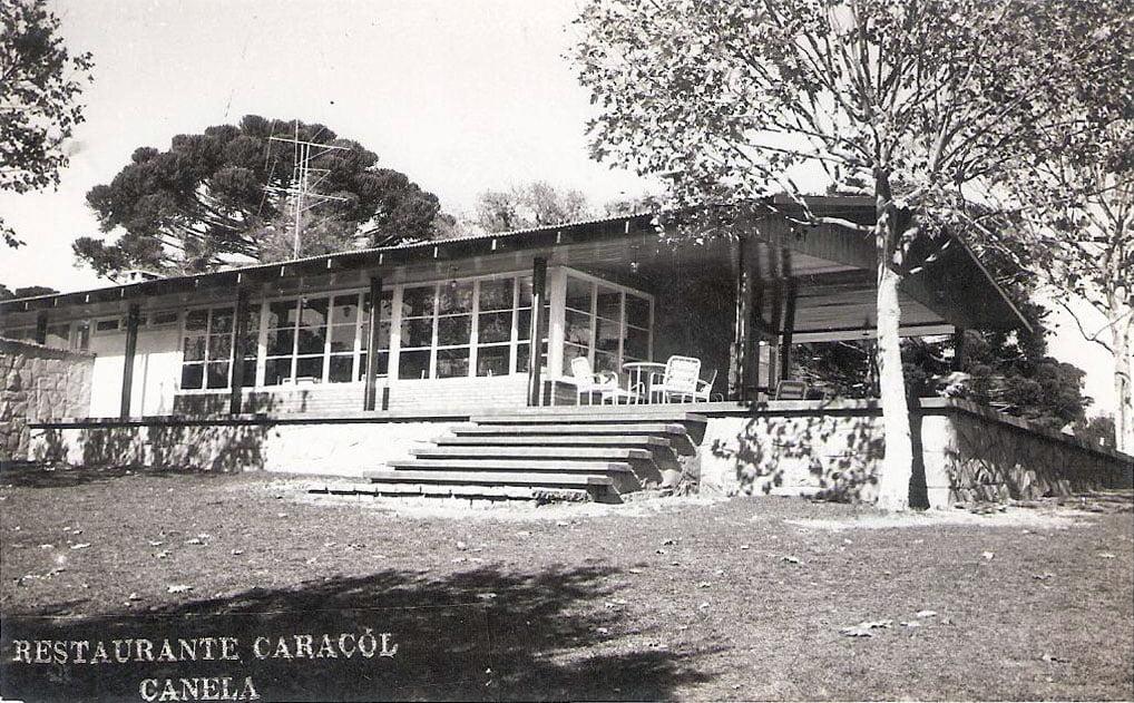 Canela - Restaurante do Caracol na década de 1960.