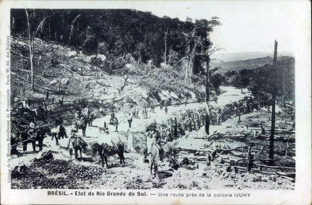 Ijuí - Estrada para Colônia na década de 1910.