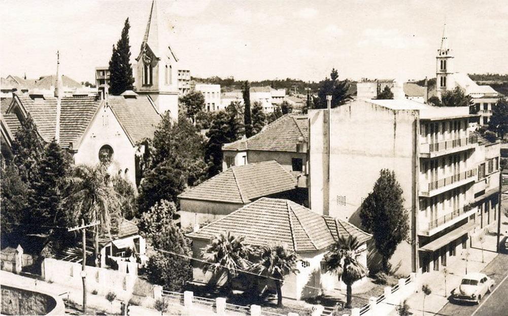 Ijuí - Vista parcial do centro na década de 1950.