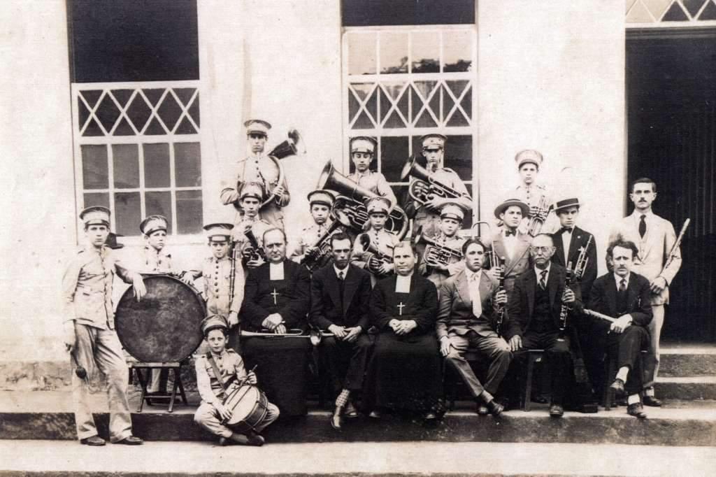 Lajeado - Banda no início do século XX. Fonte: acervo Felipe Bouvie.