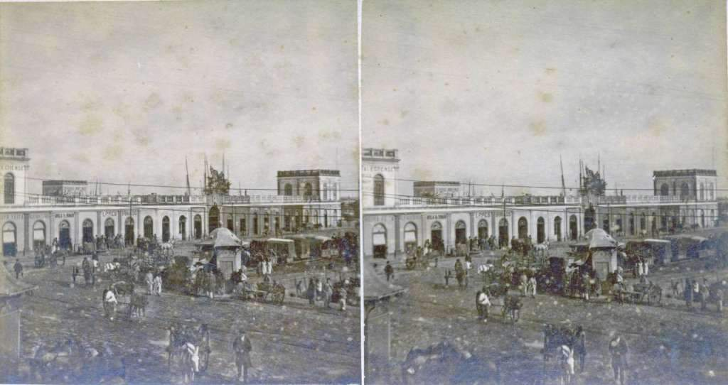 Porto Alegre - Mercado Público no início do século XX. Fonte: AHRS.