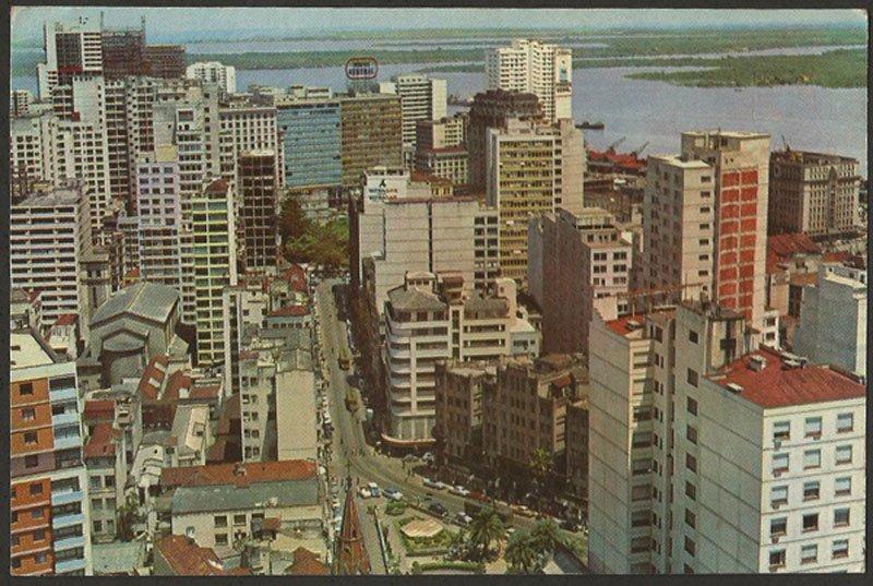 Porto Alegre - Postal do Centro e Praça Otávio Rocha na década de 1960.