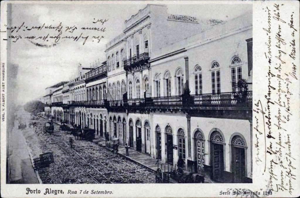 Porto Alegre - Postal Rua 7 de Setembro no início do século XX.