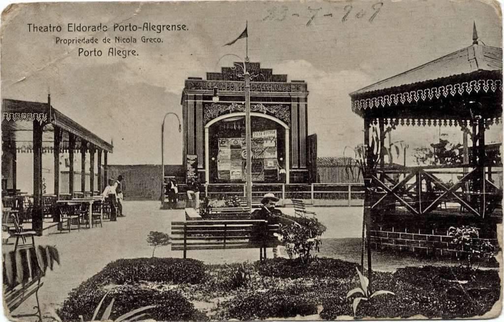 Porto Alegre - Postal do Theatro Eldorado Porto-Alegrense em 1909.