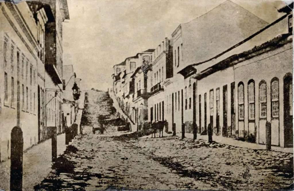 Porto Alegre - Rua dos Andradas(antiga Rua da Praia)(acervo Museu Joaquim Felizardo) 1860