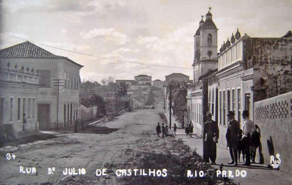 Rio Pardo - Rua Júlio de Castilhos na década de 1930.