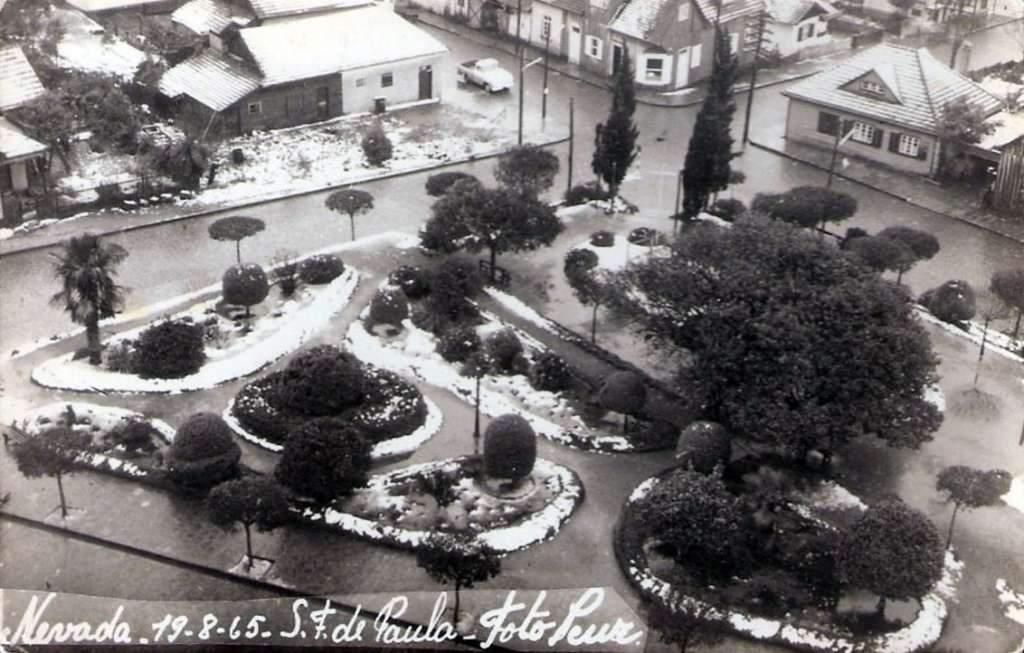 São Francisco de Paula - Neve em 1965.