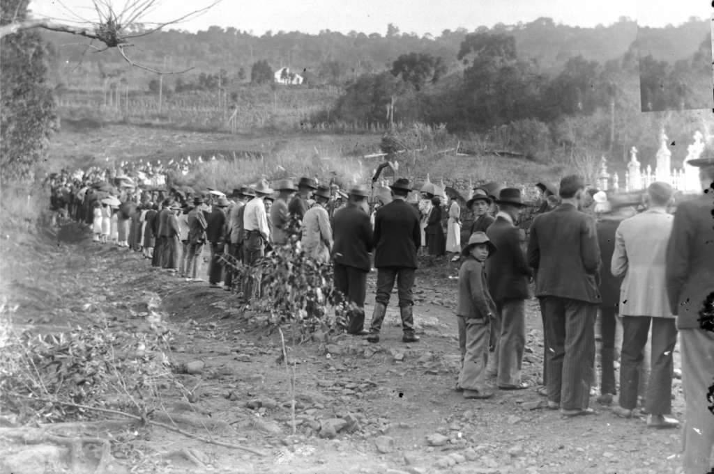 São José do Herval - Funeral  na década de 1930. Fonte: foto August Hendges.