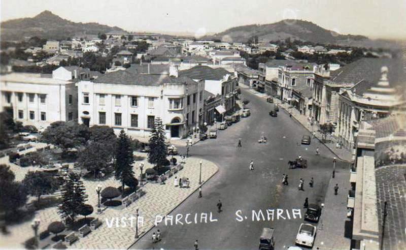 Santa Maria - Vista parcia na década de 1950. Fonte: acervo Jonatas Vargas.