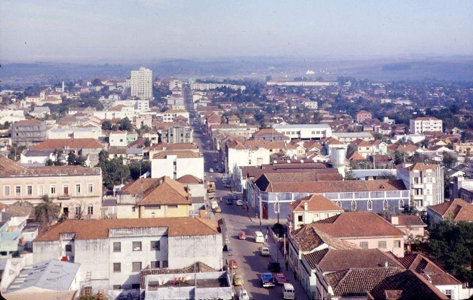 Santa Maria - Vista da área central na década de 1970. Fonte: acervo Jonatas Vargas.