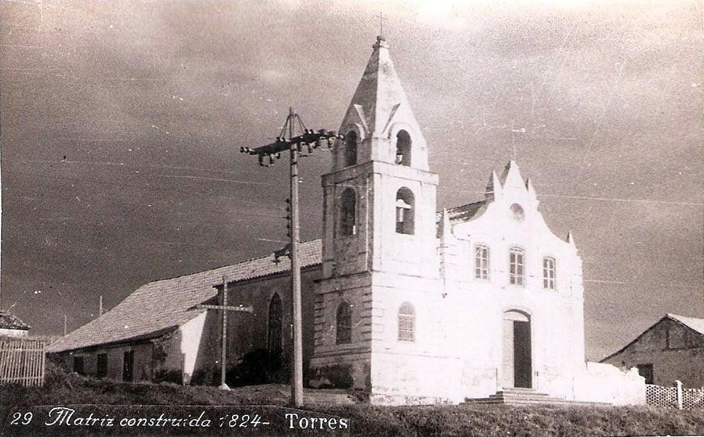 Torres - Igreja Matriz na década de 1940.
