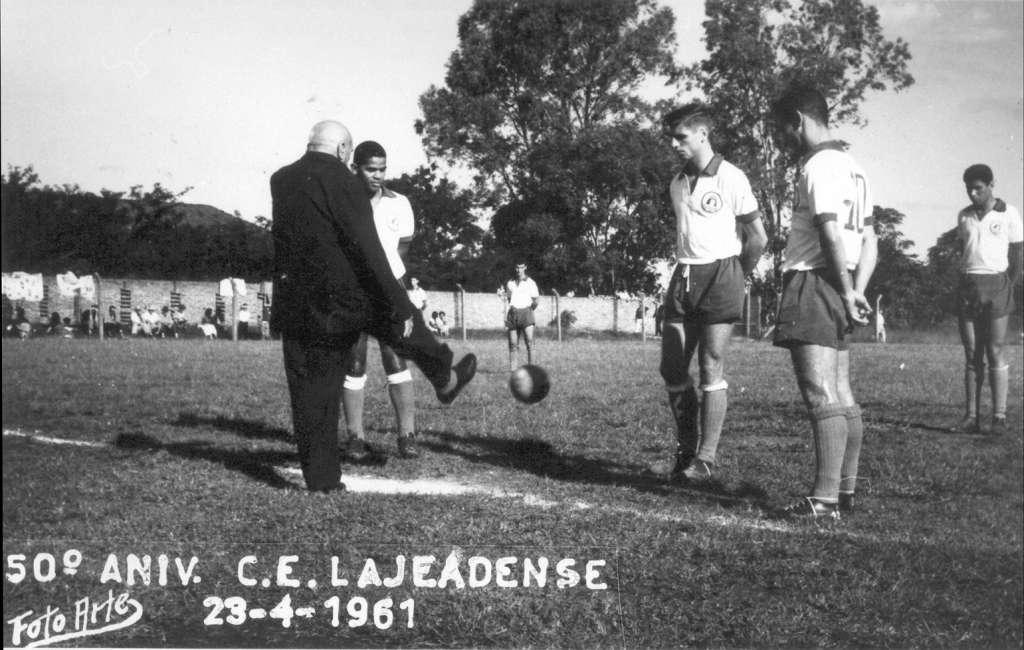 Lajeado - Aniversário de 50 anos do Lajeadense em 23/04/1961. Foto: acervo Felipe Bouvie.