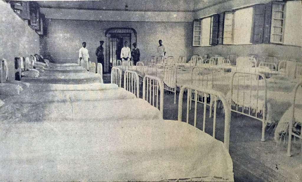 Porto Alegre - Dormitório do Manicômio Judiciário Dr Maurício Cardoso na década de 1920.