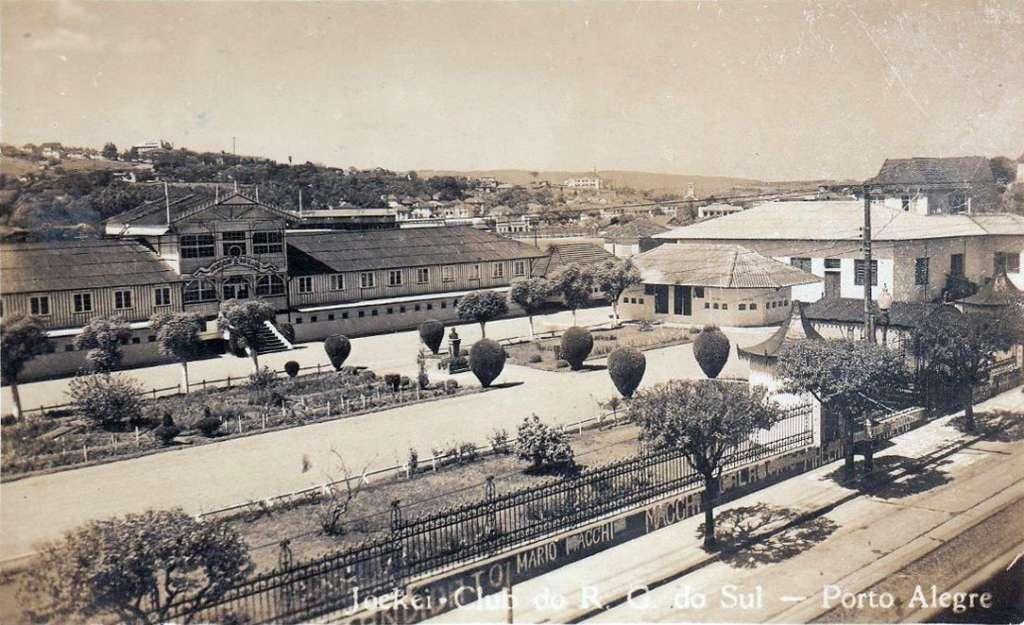 Porto Alegre - Jockei Club Prado do Moinhos de Vento na década de 1950.
