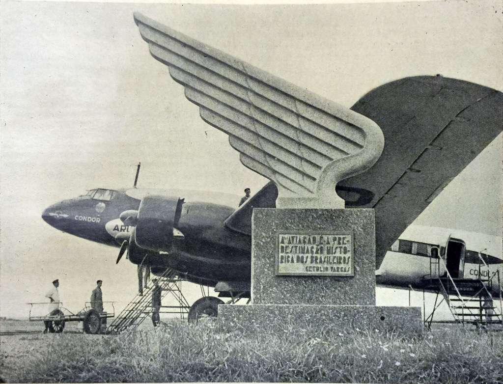 Porto Alegre - Monumento Aviação na década de 1930
