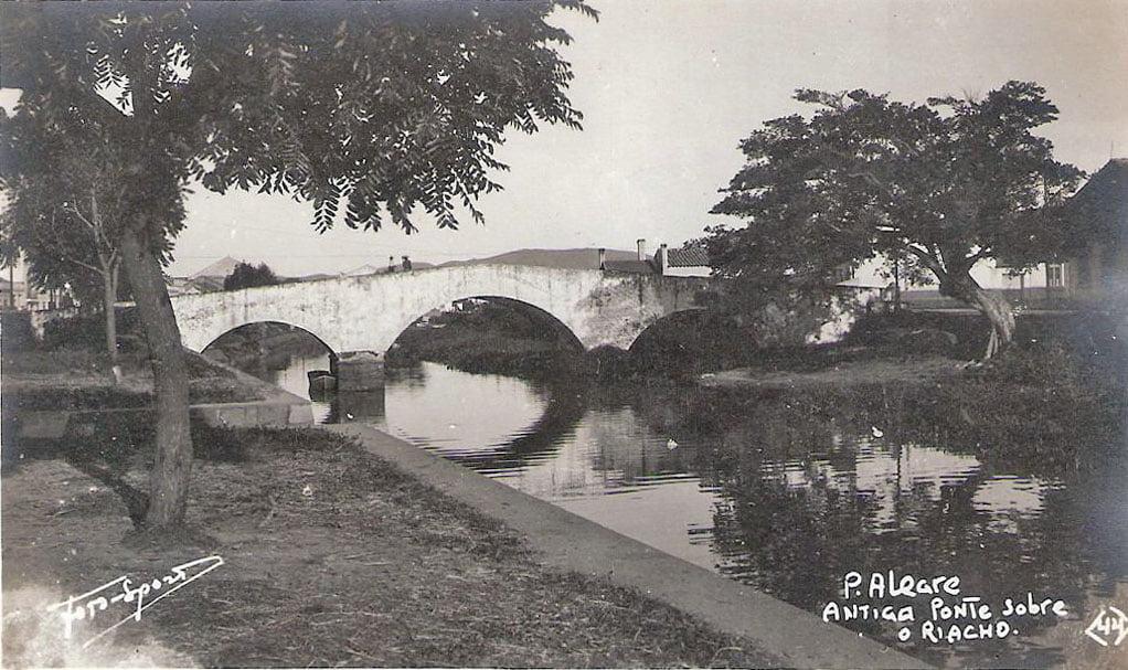 Porto Alegre - Ponte de Pedra na década de 1940.
