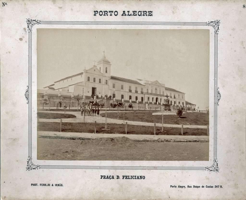 Porto Alegre - Praça Dom Feliciano e Santa Casa de Misericórdia em 1888.