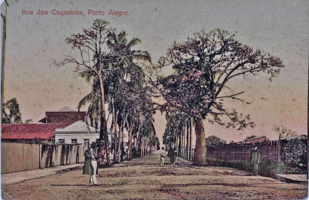 Porto Alegre - Rua 17 de Junho (antiga Rua dos Coqueiros) no início do século XX.