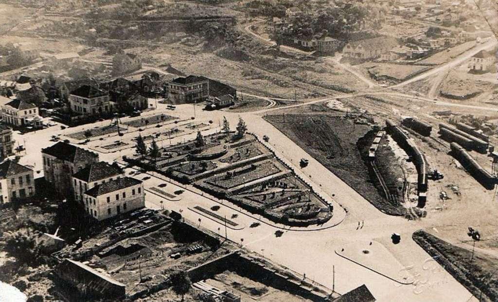 Erechim - Vista aérea na década de 1930. Fonte: Foto Tomazoni.