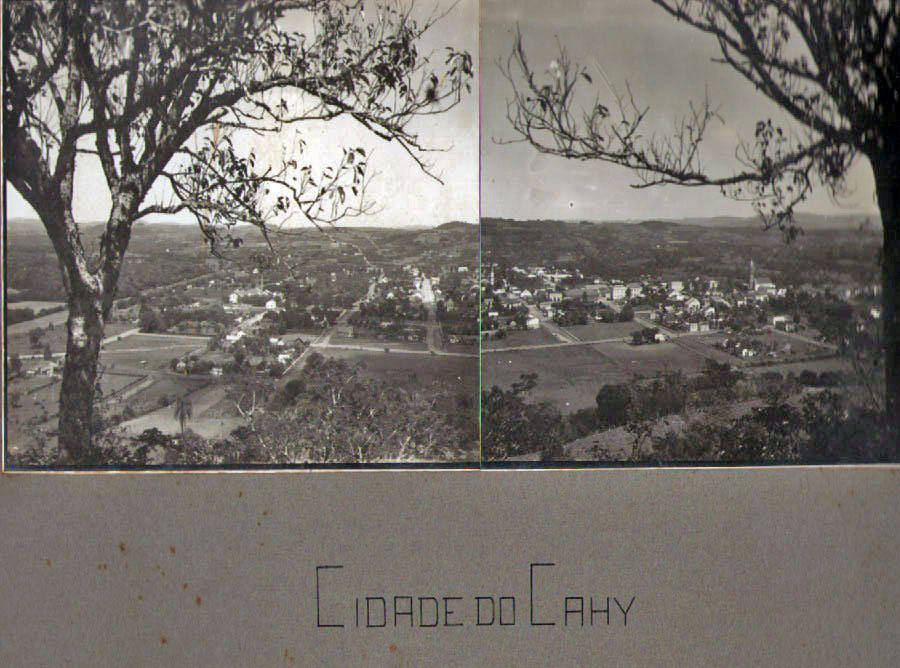 São sebastião do Caí - Vista no início do século XX.