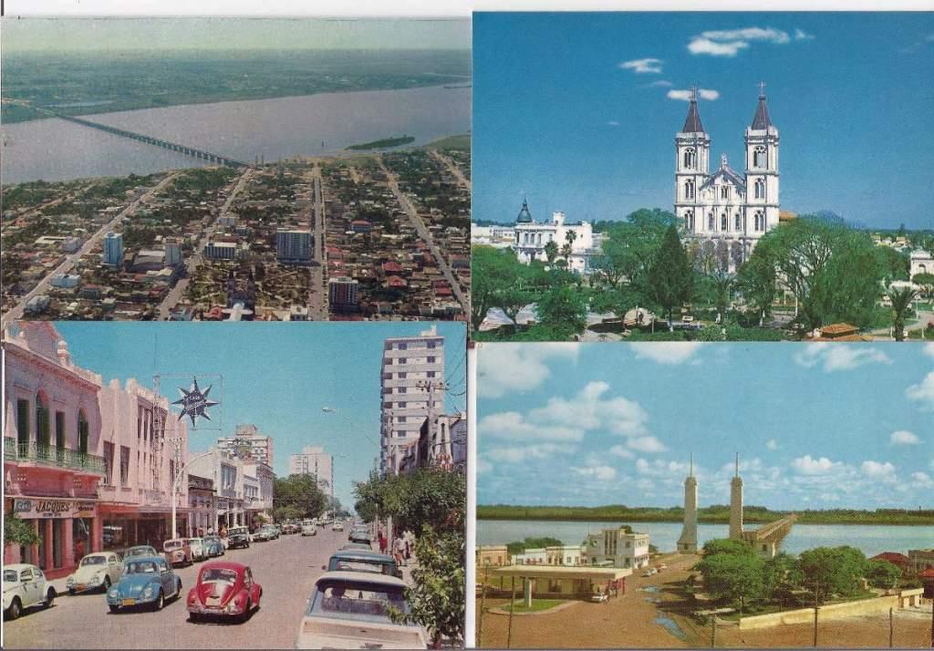 Uruguaiana - Postais da década de 1970.