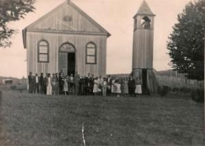 André da Rocha Igreja Matriz São Sebastião na década de 1950
