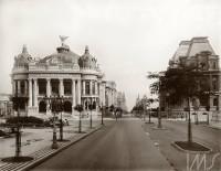 RJ Teatro Municipal, Avenida Central, atual avenida Rio Branco, Rio de Janeiro - 1910
