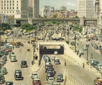 SP São Paulo Vale do Anhangabaú déc1950