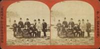 Samuel J. Mason. D. Pedro II, Tereza Cristina Maria e outras pessoas em Niagara Falls retrato, 1876. Niagara Falls, EUA e Canadá  Acervo FBN