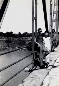 Camaquã Ponte de Ferro na foto Romoaldo Kasprzak e Nazir Kasprzak