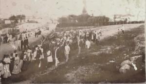 Canguçu Procissão no Centenário de Freguesia de Canguçu e criação da Paróquia 31-01-1912