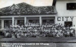 Capão da Canoa Turma do SESC de Passo Fundo Veraneio 1958
