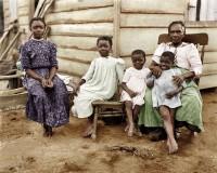EUA Descendentes de ex-escravos americanos(colorizada digitalmente por Bakkouz) 1902