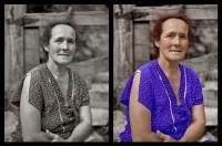 Senhora antes e depois