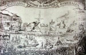 Desenho Carnaval disputado entre Esmeralda e Venezianos 1881