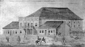 Desenho Pelotas Teatro de São Francisco de Paula(O Constitucional) déc1830