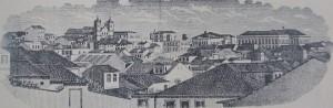 Desenho Porto Alegre Desenho Vista geral 1870