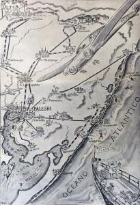 Desenho Porto Alegre Direção ao mar campo montanha(Martha de Wagner-Schidrowitz)