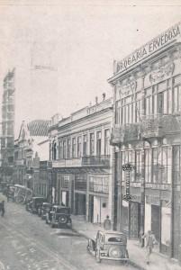 Desenho Porto Alegre Perspectiva Rua dos Andradas Drogaria Ervedoza déc1930