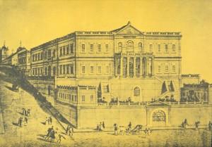 Desenho Seminário Rua do Arvoredo(atual Fernando Machado)