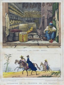 Desenho Voyageurs de la province de Rio Grande Thierry Frères 1835