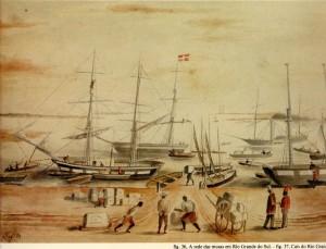 Gravura Rio Grande Cais 1852
