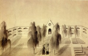 Gravura Rio Grande Cemitério 1852