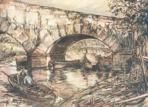 Quadro Porto Alegre Antiga ponte do Riacho