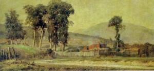 Quadro Porto Alegre Arredores Manhã de Bruma(Oscar BOEIRA-1883-1943)