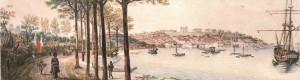 Quadro Porto Alegre Panorama(J B Debret) 1827