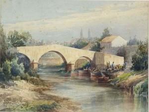 Quadro Porto Alegre Ponte do Riacho Libindo Ferraz 1929
